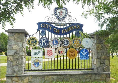 Entrance to the City of Fairfax.
