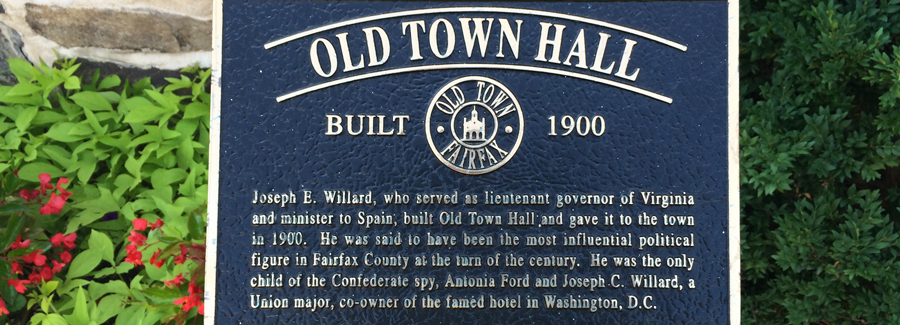 Old Town Hall sign.